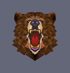 Bear head polygon geometric vector