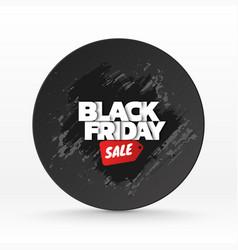 black friday sale background banner template vector image