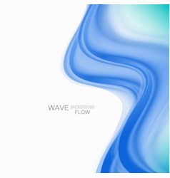 Blue abstract wave background blue wave flow vector