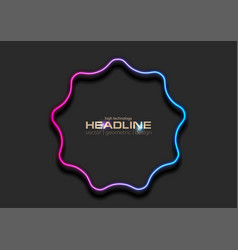 blue purple curved wavy circle abstract neon vector image