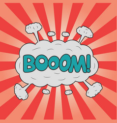 boom effect for design comic strip vector image
