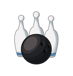Bowling ball and pin game equipment image vector