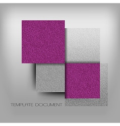 business four squares purple with text grain vector image vector image