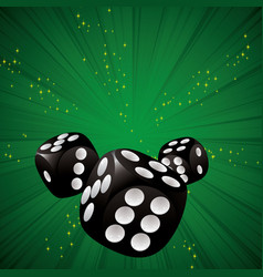 Casino dice green vector