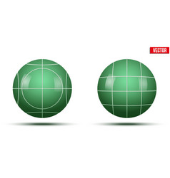 classic green bocce balls vector image