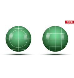 Classic green bocce balls vector