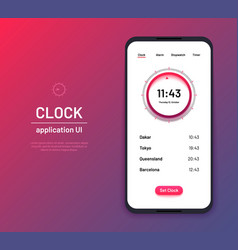 clock ui time countdown interface kit modern vector image