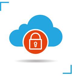Cloud storage access denied icon vector
