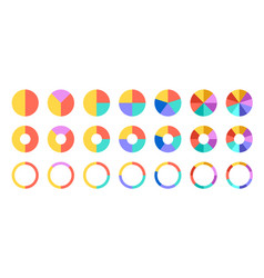 colorful pie and donut charts circle chart circle vector image