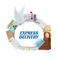 Correspondence letters mail post express delivery vector