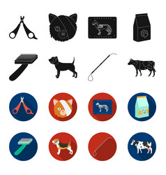 Dog cow cattle pet vet clinic set collection vector
