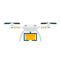 drone with box isolated icon delivery vector image