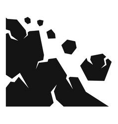 Earthquake landslide icon simple style vector