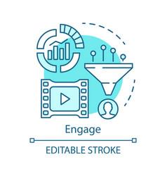 engage blue concept icon inbound marketing method vector image