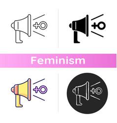 Feminist advocacy icon vector