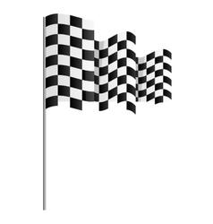 finish flag goal race vector image