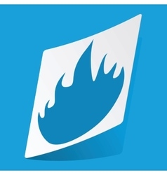 Fire sticker vector image
