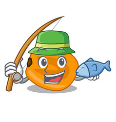 Fishing eat corn nuts in cartoon shape vector