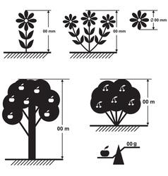 flower tree scheme vector image