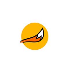 fox tail logo icon vector image