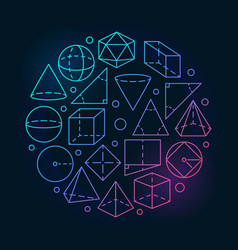 Geometry mathematics colorful vector