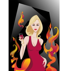 Glamour Blonde vector