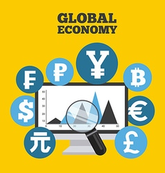Global economy vector