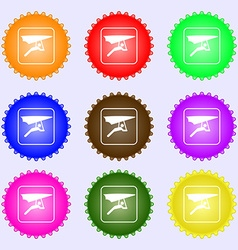 hang-gliding icon sign Big set of colorful diverse vector image