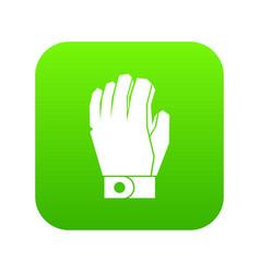 Hockey glove icon digital green vector