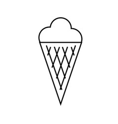 ice cream icon vector image