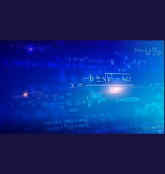 mathematical formulas floating in perspective vector image