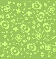 Medical icons seamless pattern vector