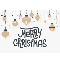 Merry Christmas lettering Typographic greeting car vector image