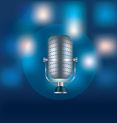Metal retro microphone for speeches vector image