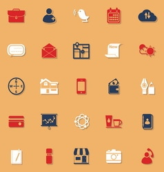 Mobile classic color icons with shadow vector image