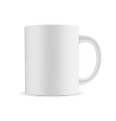 mug mockup isolated on white background vector image