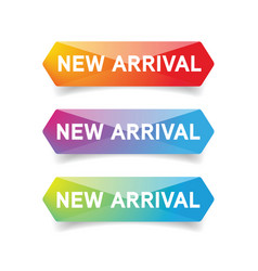 new arrival button set vector image