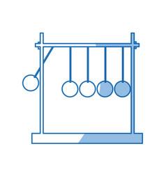 Newtons cradle momentum pendulum metal shadow vector