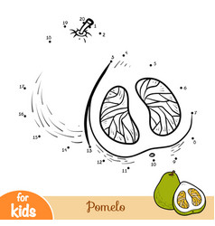 Numbers game education game for children pomelo vector