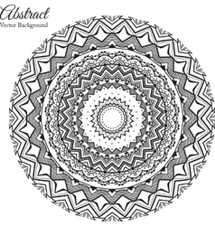 Ornamental round lace background with many details vector