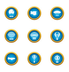 Overhead icons set flat style vector