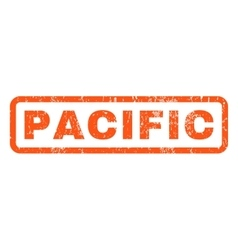 Pacific Rubber Stamp vector image