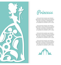 pastel colors princess banner design with girl vector image
