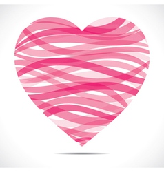 pink strip heart vector image