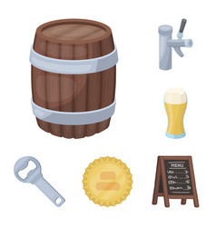 pub interior and equipment cartoon icons in set vector image