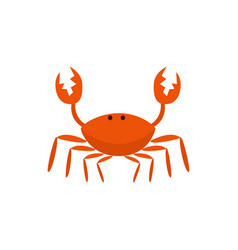 red funny cute crab cartoon character vector image