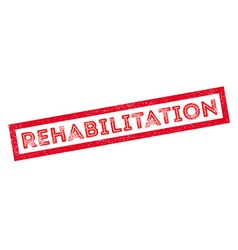 Rehabilitation rubber stamp vector