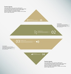 Rhombus infographic template consists of four vector