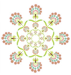 Round embroidery vector image