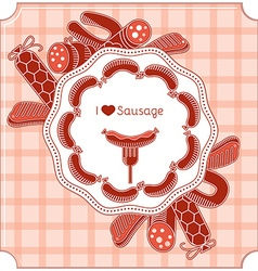 Sausage invitation vector